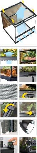 Exo Terra PT2605 Glasterrarium 45x45x45 cm -