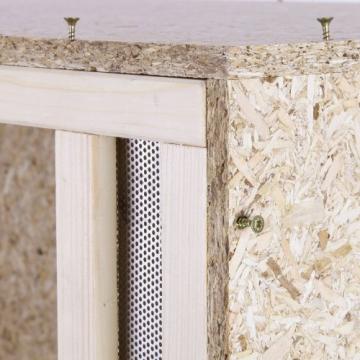 Holzterrarium 80x40x40 cm mit Frontbelüftung aus OSB Holz -