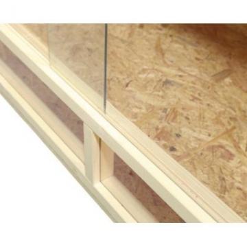 Holzterrarium mit Seitenbelüftung 100x60x60cm -