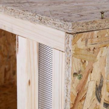 Holzterrarium 120cmx60cmx60cm mit Frontbelüftung aus OSB Platten -