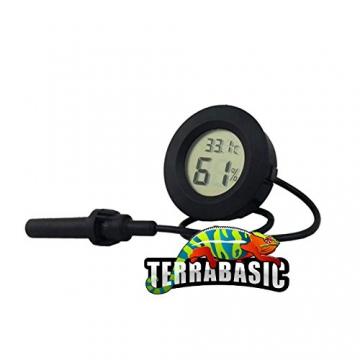 TerraBasic RepCage 120x60x60, Seitenbelüftung + Thermo-Hygrometer -