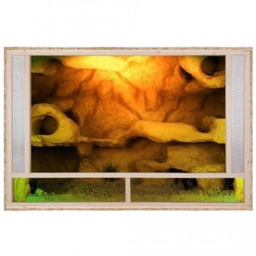 Terrarium: Holzterrarium für Reptilien Seitenbelüftung 120x80x80cm, hochwertiges Terrarium aus OSB Holz, leichte Montage -