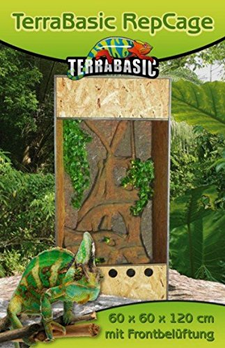 Holzterrarium 50x50x80cm TerraBasic RepCage mit Frontbelüftung -