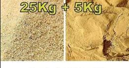 30 kg Fertig Mix bestehend aus 25 kg Terrarium Sand hochrein und 5 kg Lehmpulver, Naturlehm - 1