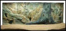 3D Aquarien Rückwand 120x60 Fels mit Wurzel - 1