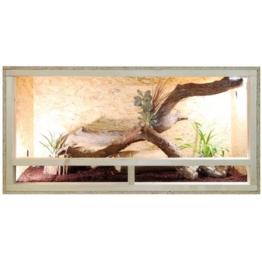 Repiterra Terrarium aus Holz 120x60x60 cm mit Seitenbelüftung aus OSB Platten mit Floatglas - 1