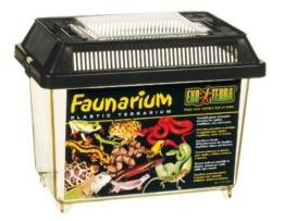 Exo Terra Faunarium mini - Allzweckbehälter für Reptilien, Amphibien, Mäuse und Insekten,18 x 12 x 14,5 cm - 1