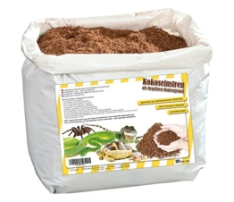 Humusziegel natürliches Terrariensubstrat - lose Kokoserde trocken - 20 L Sack - 1