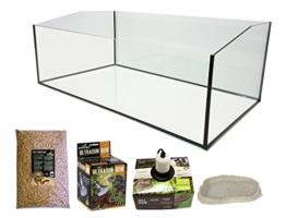 Reptiles Planet Eco Kit Terrarium mit Becken geöffnet für Schildkröte terrestrisch 80x 45x 30cm - 1