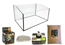 Reptiles Planet Eco Kit Terrarium mit Becken geöffnet für Schildkröte terrestrisch 60x 40x 28cm - 1