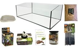 Reptiles Planet Kit Terrarium komplett mit Becken geöffnet für Schildkröte terrestrisch 80x 45x 30cm - 1