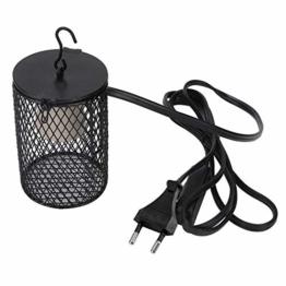 Reptilien Wärmelampe Schutzkorb Lampenschutzkorb Lampenschutzgitter für Terrarien Lampen schützt Reptilien vor Verbrennungen(EU 220V) - 1
