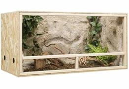 Generisch Terrarium, Terrariumbausatz, OSB Terrarium, Holzterrarium 120 x 60 x 60 cm Seitenbelüftung - 1