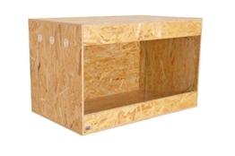 Happy-Echse OSB Terrarium, Holz Terrarium, Terrarium, Seitenbelüftung, 100 x 60 x 60 - 1