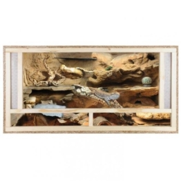 REPITERRA Terrarium aus Holz 120x60x60 cm mit Frontbelüftung aus OSB Platten mit Floatglas - 1