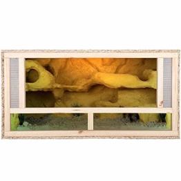 REPITERRA Terrarium für Reptilien & Amphibien, Holzterrarium mit Frontbelüftung 100x50x50 cm - 1