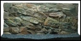 3D Aquarienrückwand 100x50 Rock - 1