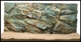3D Aquarienrückwand 80x40 Rock - 1